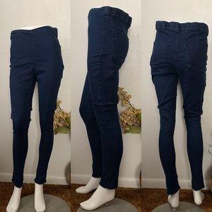 Free People Skinny High Waist Blue Jeans Sz 30L